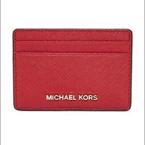 Michael Kors MK Card Holder - Red